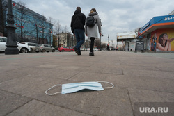 Виды Перми. Пермь, маска, маска медицинская, маска на тротуаре