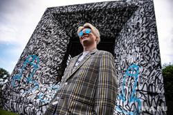 Восстановление работы Покраса Лампаса в сквере Екатеринбурга, покрас лампас