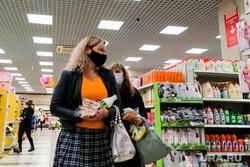 Масочный режим. Челябинск, покупатель, супермаркет, магазин, сиз, маска медицинская