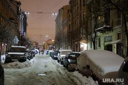 Клипарт. С-Петербург, жилые дома, снег в городе, ноябрь, улица 6советская