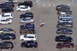 Разное. Курган, машины, стоянка, люди, парковка, автопром