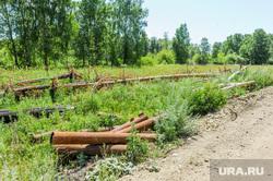 Экология Миасса и окрестностей. Челябинск, строительство коттеджного поселка, трубы для скважины