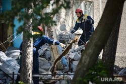 Взрыв на Сыромолотова, 28. Екатеринбург, разбор завалов, разрушенный дом