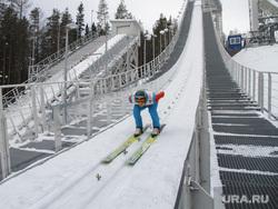 Гора Долгая. Комплекс лыжных трамплинов. Нижний Тагил, трамплин, летающие лыжники, тренировка, лыжный трамплин, горнолыжный комплекс