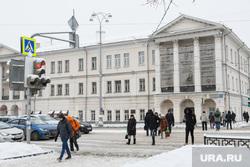 Снег в городе. Екатеринбург, колледж ползунова, площадь 1905года, проспект ленина