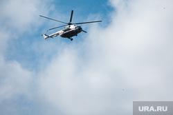 Последствия паводка в городе Нижние Серги. Свердловская область, вертолет мчс