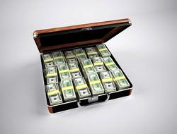 Открытая лицензия 10.06.2015. Деньги., доллары, кейс, деньги