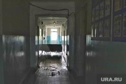Далматовский район. Курган , коридор больницы, больница, вход закрыт