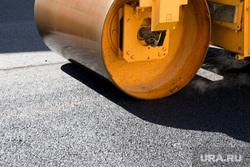Курган, каток, асфальт, ремонт дороги