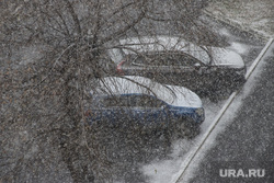 Первый снег. Плохая видимость. Курган, снег, метель, плохая погода, плохая видимость, машины в снегу, холод, холодная погода, плохая видио