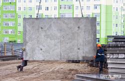 Стройка. Нижневартовск , строители, бетонная плита, стройка