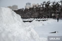 Виды Екатеринбурга, сугроб, снег, зима, осадки