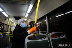 Санитарная обработка автобусов. Тюмень, автобус