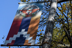 Виды Степанакерта и Шуши. Нагорный Карабах, флаг нагорного карабаха