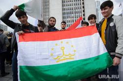 День России в Екатеринбурге, таджики, таджикская диаспора, флаг таджикистана