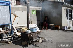Виды Степанакерта и Шуши. Нагорный Карабах, печка, готовка еды, буржуйка