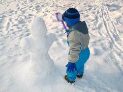 Клипарт depositphotos.com, снег, дети зимой, лепить из снега