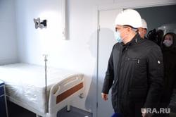 Поездка Алексея Текслера на строительство новой инфекционной больницы. Челябинск, текслер алексей, ковидная база, инфекционный центр, ковидный госпиталь