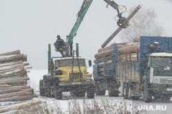 Клипарт. Свердловская область, лесозаготовка, лесовоз, заготовка леса, снегопад