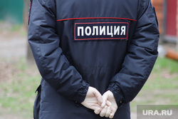 Кладбище Рябково. Курган, полиция, перчатки медицинские