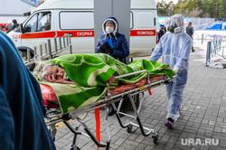 Последствия взрыва кислородной станции в госпитале на базе ГКБ№2. Челябинск, врачи, скорая помощь, эвакуация больных, медики, доктор, противочумной костюм, защитные костюмы