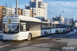 обработка автобусов от коронавируса 16 марта 2010 г. Пермь., автобус, маршрут, общественный транспорт, конечная станция