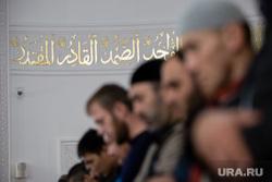 Визит в Югру Верховного муфтия Сирии Ахмада Бадр эд-Дин Хассуна, Сургут, мечеть, ислам, арабская вязь, мусульмане, религия, вера, молитва