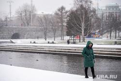 Виды Екатеринбурга, снег, исторический сквер, зима, город екатеринбург, снегопад