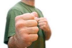 Клипарт depositphotos.com , борьба, кулак, агрессия, ненависть, злость, удар, кулаки, оскал