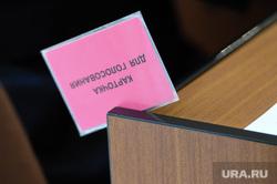 Гордума. Доклад Тефтелева. Челябинск, карточка для голосования