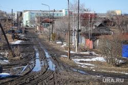Ремонт дороги на ул. Мальцева. Курган, грязь на дороге, грунтовая дорога, грязь во дворе, грязь, лужи на дорогах, размытая дорога