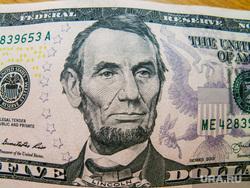 Клипарт. Доллар, валюта. Челябинск, доллары, сша, соединенные штаты америки, деньги, валюта, авраам линкольн, пять долларов
