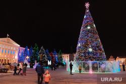 Иллюминация. Курган, елка, праздник, город курган, иллюминация, площадь ленина, новый год
