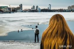 Виды Екатеринбурга, набережная, утки, волосы, город екатеринбург, вид на набережную, рыжие, весна