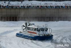 Празднование 23 февраля на реке Тура «Спецоперация лед» и «Битва на Туре». Тюмень , мчс, гимс, катер на воздушной подушке