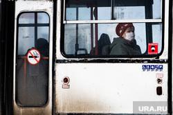Виды Екатеринбурга, автобус, общественный транспорт, защитная маска, маска на лицо, масочный режим, медицинская  маска, вход в масках
