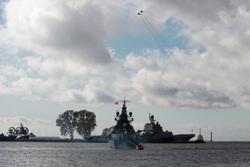 Клипарт, официальный сайт министерства обороны РФ. Екатеринбург, учения, военный корабль, эсминец, ВМФ