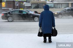 Мороз. Челябинск, зима, женщина с сумками, мороз, климат, погода
