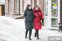 Снежный город. Тюмень, снег, зима, пешеходы, пешеходы в масках