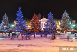 Иллюминация. Курган, праздник, елки, город курган, новый год, иллюминация, площадь ленина