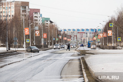 Город во время режима самоизоляции. Сургут, проспект ленина