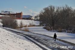 Благоустройство набережной  реки Тобол. Курган , снег, цпкио курган, зима, благоустройство набережной, набережная битевки