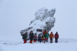 Пермский турклуб Меридиан в районе перевала Дятлова