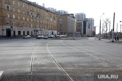 Подборка фотографий в период самоизоляции 28.04.20 в Перми, трамвайные рельсы, улица революции пермь