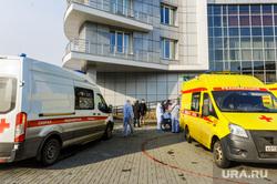 Последствия взрыва кислородной станции в госпитале на базе ГКБ№2. Челябинск, реанимобиль, медицина катастроф, врачи, скорая помощь, медики, доктор, противочумной костюм, защитные костюмы