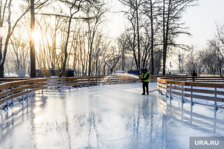 Новый каток в парке Терешковой. Челябинск