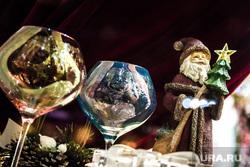 Виды Екатеринбурга, бокалы, новый год
