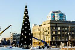 Елка на площади Революции. Челябинск, площадь революции, елка на площади