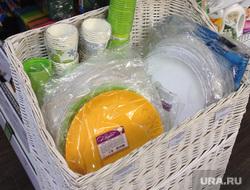 Реклама Здоровая ферма. Магазин. Супермаркет. Продукты. Челябинск., одноразовая посуда