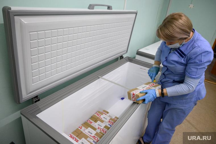 Прибытие партии вакцины от коронавирусной инфекции COVID-19 для начала массовой вакцинации. Екатеринбург